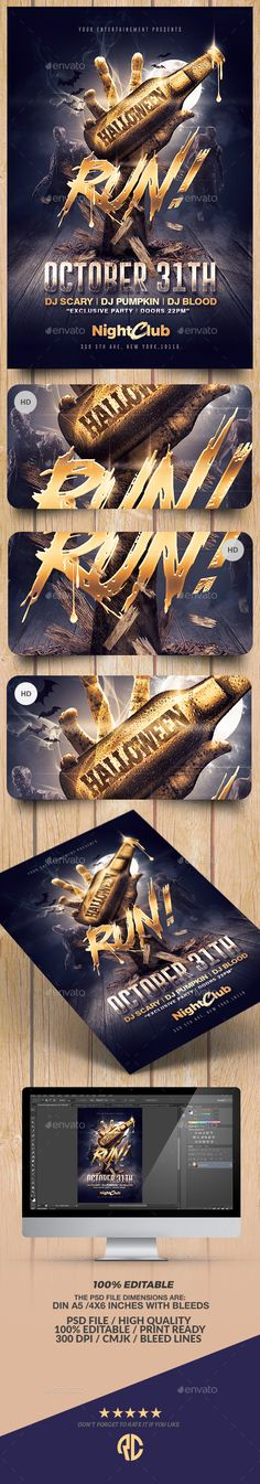 Fashion Design Flyer Template Flyer template, Club parties and - zombie flyer template