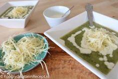 Broccoli courgettesoep, met een vleugje citroen   Koolhydraatarm Recept .nl