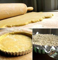 Finishing & Baking the Pastry – Tartes Fruit Tartes Fruit Flan, Fruit Tart, Köstliche Desserts, Delicious Desserts, Dessert Recipes, Tart Crust Recipe, Quiche, Panna Cotta, Sweet Tarts