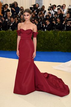 """Taylor Hill attends the """"Rei Kawakubo/Comme des Garcons: Art Of The In-Between"""" Costume Institute Gala at Metropolitan Museum of Art on May 1, 2017 in New York City."""