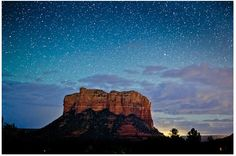 A starry night in Sedona - this is a nightly occurrence to us Sedona Locals!