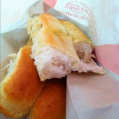 Fresh warm breadsticks from Fazolis....yum!!!!