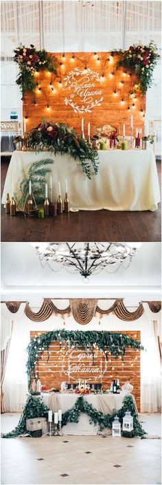 Rustic country wedding head table decor #weddings #weddingideas #countryweddings #rusticweddings #weddingdecor #rusticcountryweddings #weddingdecoration