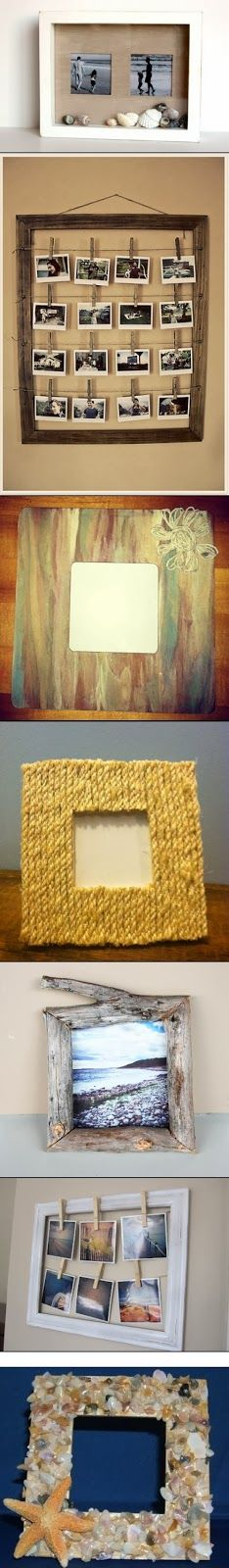 DIY Photo Frame ideas - the middle one! Deco Originale, Creation Deco, Wall Decor, Room Decor, Diy Photo, Photo Ideas, Cool Ideas, Decoration, Picture Frames