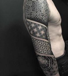 full black sleeve tattoo meaning Upper Half Sleeve Tattoos, Half Sleeve Tattoos Drawings, Black Sleeve Tattoo, Mandala Tattoo Sleeve, Upper Arm Tattoos, Arm Sleeve Tattoos, Arm Tattoos For Guys, Forearm Tattoos, Tattoo Sleeves