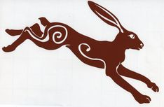 Leaping Hare car sticker