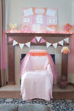 Love The Idea Of Decorating BEHIND The Chair... Makes The Pictures Turn  Out. Shower ChairThe ChairBaby ...