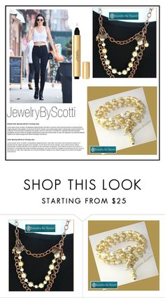 """""""JewelryByScotti"""" by elma-993 ❤ liked on Polyvore featuring Yves Saint Laurent and JewelryByScotti"""