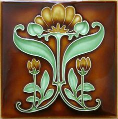 Historic Tiles - Moulded Art Nouveau Tiles - Waterfront