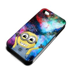 Despicable Minions nebula Galaxy for iPhone 4/4s/5/5s/5c, Samsung Galaxy s3/s4 case