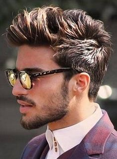 picture of men hairstyle. I love his hair and facial hair. Mariano looks equally hot and sexy with specs!!!