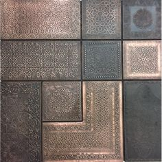 Wall Panel Moroccan Combo copper by Lost Cowboys in Tiles Moroccan Decor Living Room, Moroccan Interiors, Moroccan Bedroom, Copper Decor Living Room, Copper Wall Decor, Moroccan Lounge, Moroccan Design, Moroccan Tiles, Moroccan Lanterns