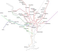 Track map of streetcars in Washington D C run by DC Transit