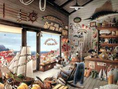 weekend escape - joe & roy bait & fishing shop (80 pieces)Hiro Tanikawa