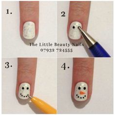 Step by step Christmas nail art