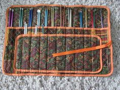 Will modify this design to fit my current knitting project tote. I like to be organized.