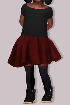 LumySims: Chisami Dress for toddlers • Sims 4 Downloads