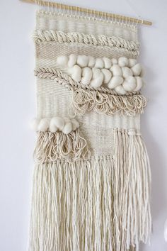 Weaving Wall Hanging woven wall hanging | ivory and neutrals weaving | wall hangings