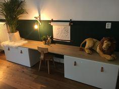 This cozy kids' corner can certainly be seen in your living room! Baby Bedroom, Kids Bedroom, Ikea Stuva, Girl Bedroom Designs, Toy Rooms, Kids Room Design, Kids Corner, Kid Spaces, Room Inspiration