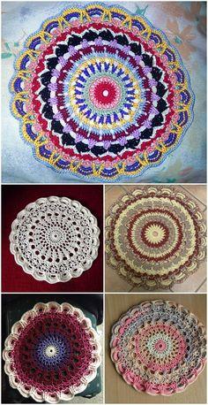 Free Crochet Mandala Patterns Free Crochet Mandala Patterns - Page 8 of 12 - DIY & Crafts Free Mandala Crochet Patterns, Doily Patterns, Crochet Motif, Free Crochet, Knitting Patterns, Diy Crafts Crochet, Crochet Projects, Crochet Ideas, Crochet Mandela