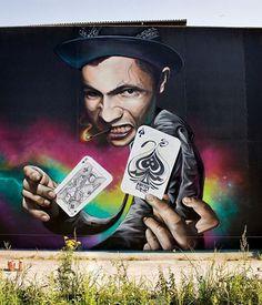 Foto: • ARTIST . MATAONE •  ◦ Ace of Spades ◦#streetart
