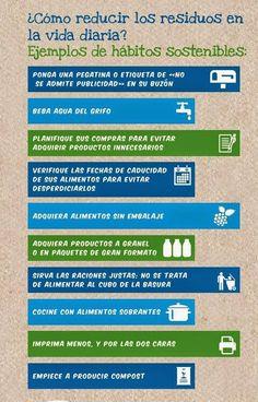 El decálogo de la reducción de residuos domiciliarios #infografía