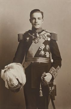 Manuel II, King of Portugal. 1909