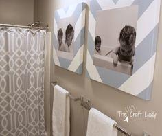 Bath Time Photos and DIY Canvas Prints |via` The Crazy Craft Lady