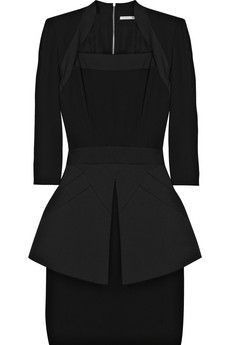 Victoria Beckham Silk and cotton-blend peplum mini dress | NET-A-PORTER