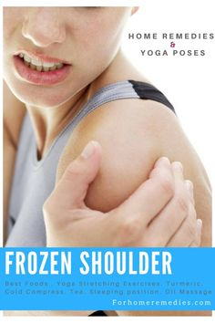 Relief From My Frozen Shoulder: 5 Home Remedies n Yoga Exercises Frozen Shoulder Exercises, Shoulder Workout, Shoulder Injuries, Shoulder Muscles, Stiff Shoulder, Shoulder Problem, Shoulder Massage, Cold Home Remedies, Acupressure Points