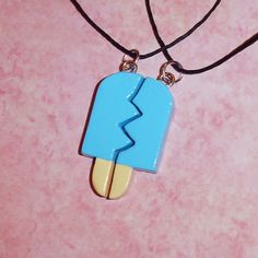 Kingdom Hearts - Friendship Sea Salt Ice Cream Necklaces. $22.00, via Etsy.