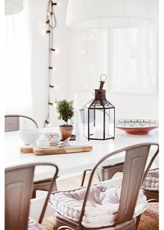 We love lanterns, cannot get enough of them all sizes, all shapes. Not just for candles.