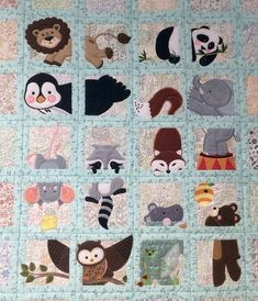 Animal Adventure Quilt I Made For My New Grandbaby Due To