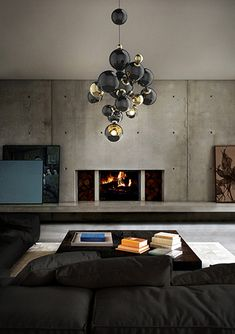 Atomic Contemporary Suspension Lamp by @delightfulll