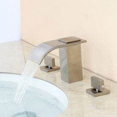 Milly Waterfall Faucet Is Designed To Bring A Modern And Fun Feel Into Any Room From Collection Comes This Widespread Sink For Your Bathroom