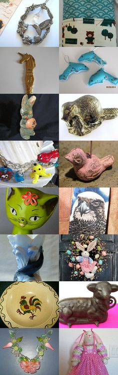 ADORABLE ANIMALS by William Rosenberg on Etsy--Pinned with TreasuryPin.com