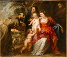 Peter Paul Rubens - The Holy Family with Saints Francis and Anne and the Infant Saint John the Baptist [early or mid-1630s] | by Gandalf's Gallery