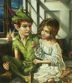 Imagine disney, peter pan, and wendy