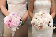 light pink peony bouquet, pink rose and peony bouquet