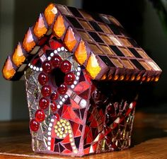 Mosaic Birdhouse   Flickr - Photo Sharing!
