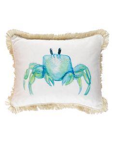 Danica Crab Decorative Pillow - x Main View Decorative Pillows, Home Goods, Throw Pillows, Coastal, Aqua, Inspiration, Live, Green, Decorative Throw Pillows