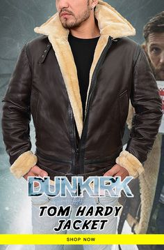 Tom hardy Leather Jacket is Here For Farrier Fans! Tom Hardy Jacket, Tom Hardy Dunkirk, Shearling Jacket, Leather Jackets, New Look, Shop Now, Toms, Bomber Jacket, Menswear