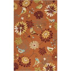 Rain Outdoor Rug in Burnt Orange & Mustard design by Surya ($73) ❤ liked on Polyvore featuring home and rugs