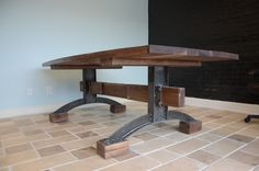 The Rustic Minimalist Conference Table proudly manufactured by The Industrial Farmhouse in Chattanooga, Tenn.Acquire one for your office today: #woodfurniture