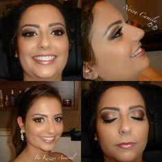Make para prévia!!!! Noivinha linda.... Make clássica.... By Kézzia Amaral Make Up