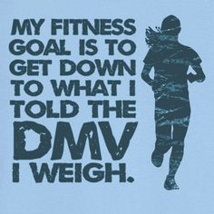 My Fitness Goal Funny Novelty T Shirt Z12570. $18.99, via Etsy. size med