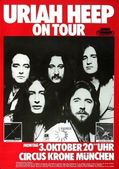 Uriah Heep - 'Firefly' Tour 1977. Germany