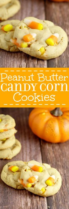 Peanut Butter Candy Corn Cookies take the rich creaminess of peanut butter and combine it with the vanilla and honey sweetness of classic candy corn to make a perfect and delicious Fall and Halloween treat for kids, party, and everyone! Maybe add chocolate chips?!