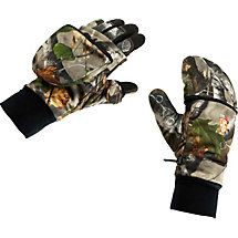 The ultimate all-season glove/mitten combo by HuntGuard®.  Featuring a lightweight inner shooting glove with Clarino™ palm that allows for high dexterity while the outer Reflextec™ mitt is ideal for extreme cold. Works great with archery releases and uses magnets for silent opening and closing.  Windproof, water resistant, and breathable.  No more cold fingers!