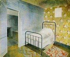 The Bedstead by Eric Ravilious, 1939